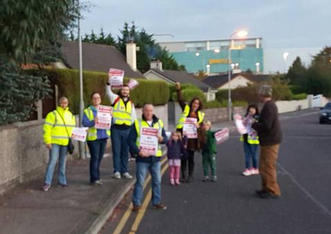 Mahon Says No activists on a recent door-to-door canvass - the response of an overwhelming majority of people has been positive and indicates that MAHON SAYS NO